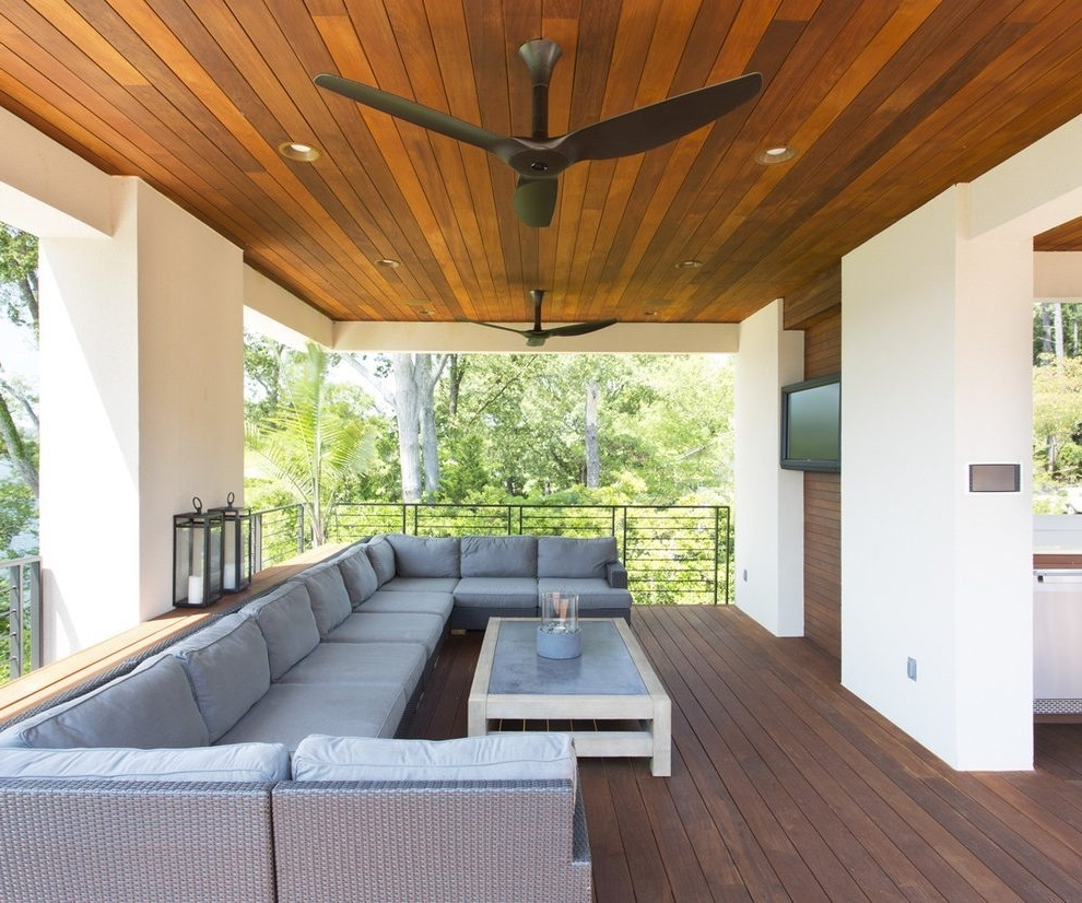 Outdoor Patio Ceiling Fans Patio Contemporary With Patio Regarding Well Known Outdoor Patio Ceiling Fans With Lights (View 9 of 20)