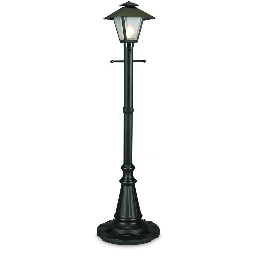 Outdoor Patio Electric Lanterns Intended For Preferred Patio Living Concepts Cape Cod Black Outdoor Plug In Post Lantern (Gallery 1 of 20)