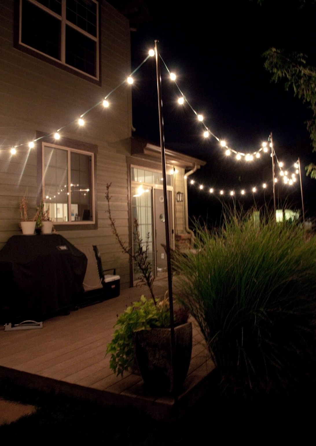 Outdoor Patio String Lighting Ideas Hanging Lights With Colonial With Recent Outdoor Hanging Lanterns For Patio (View 18 of 20)