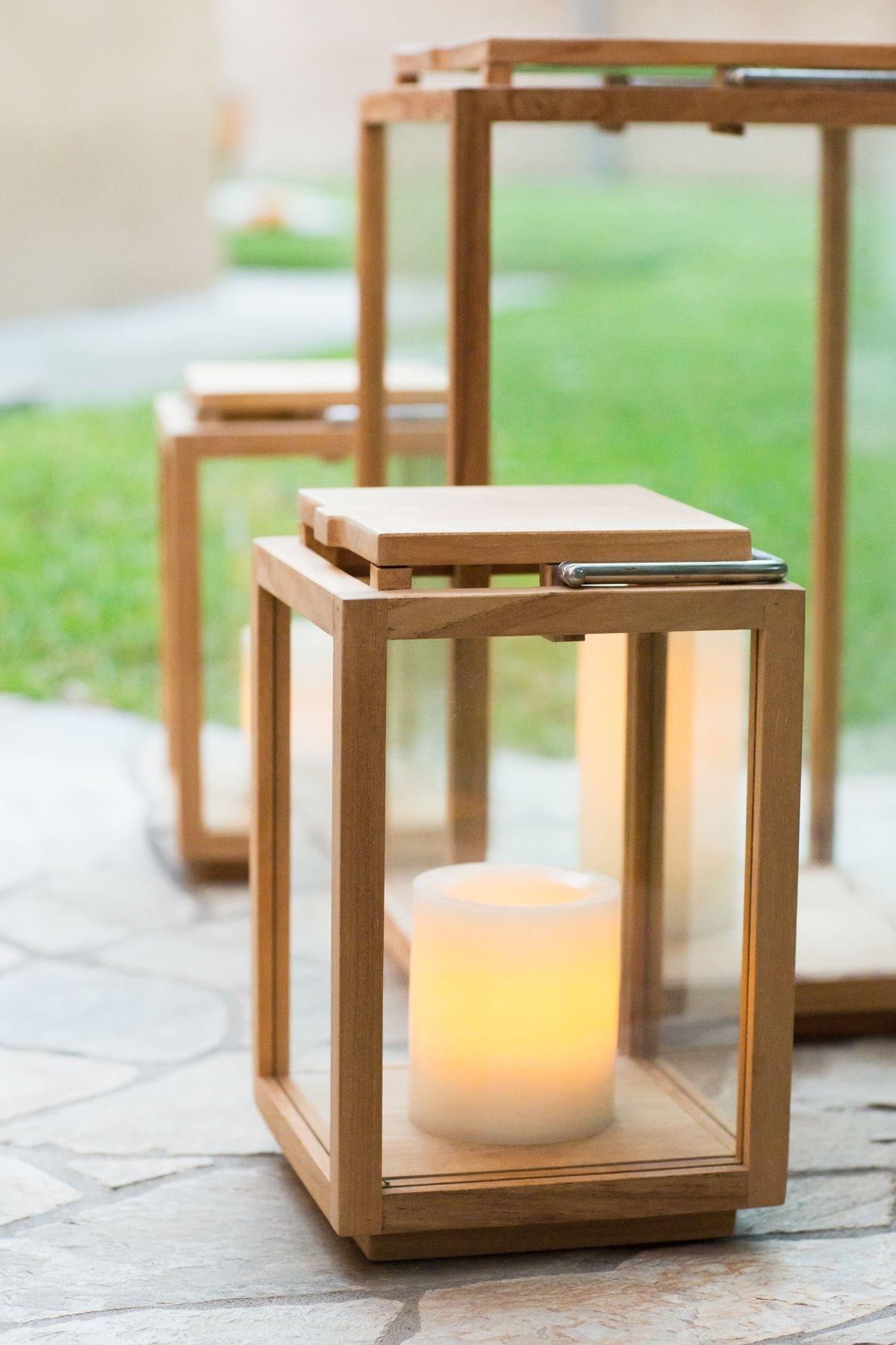 Outdoor Patio Teak Lanterns // Outdoor Lighting // Patio // Outdoor For Well Liked Outdoor Teak Lanterns (View 7 of 20)