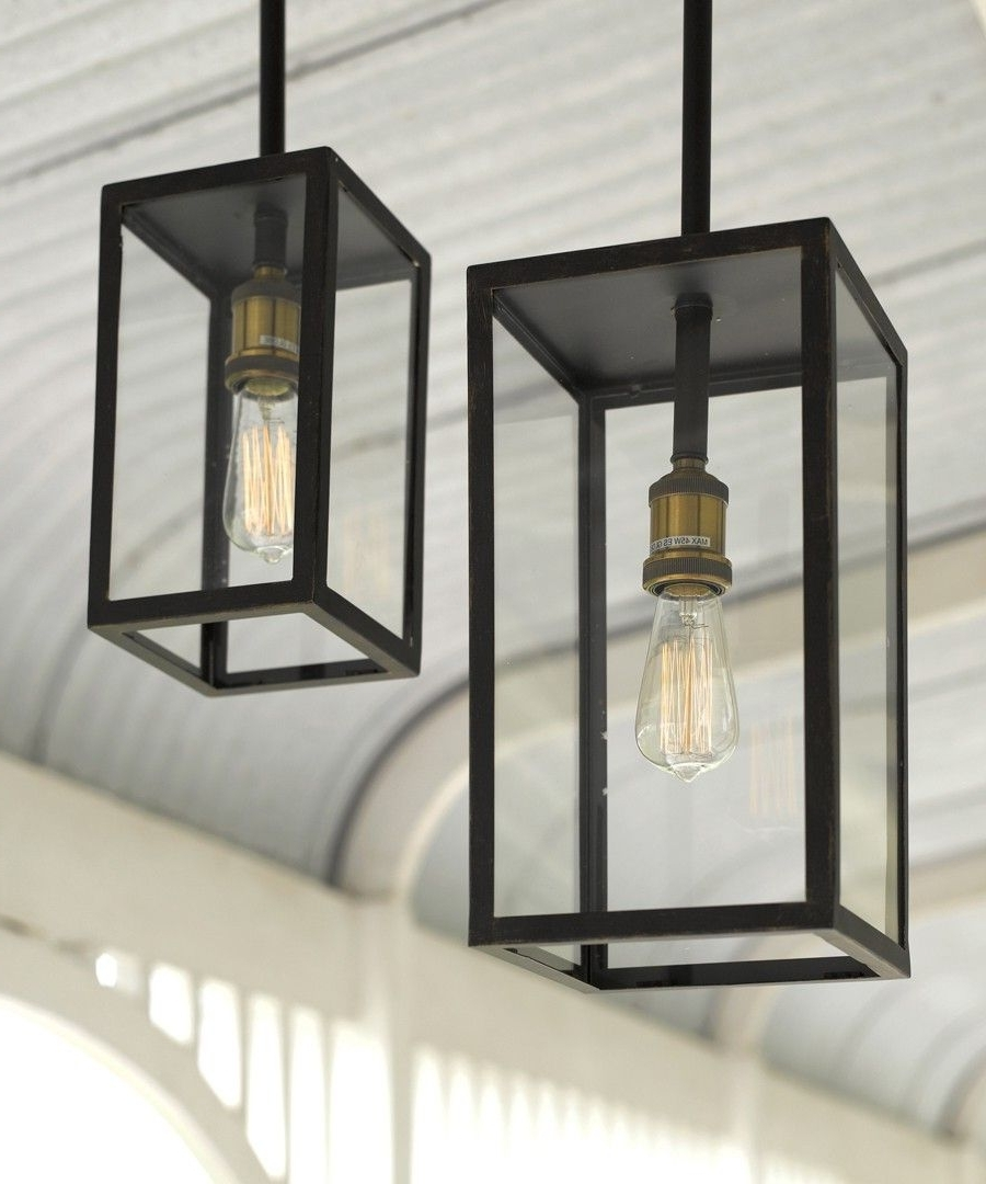 Outdoor Pendant Lanterns Regarding Well Known Southampton 1 Light Small Exterior Pendant In Antique Black (View 12 of 20)