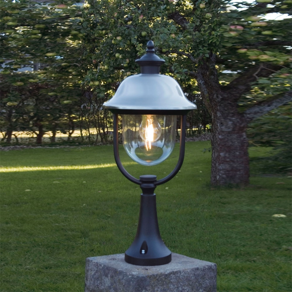 Outdoor Pillar Lanterns Throughout Most Por Konstsmide 7241 000 Parma 1 Light Post Lights