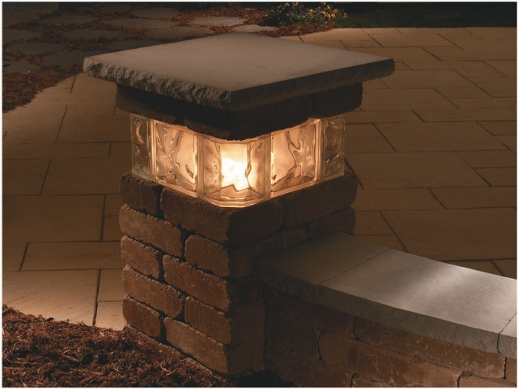 Outdoor Pillar Lanterns Throughout Well Liked Outdoor Lighting Kits Top Solar Lights Pillar Round Chaise Lounge (Gallery 1 of 20)