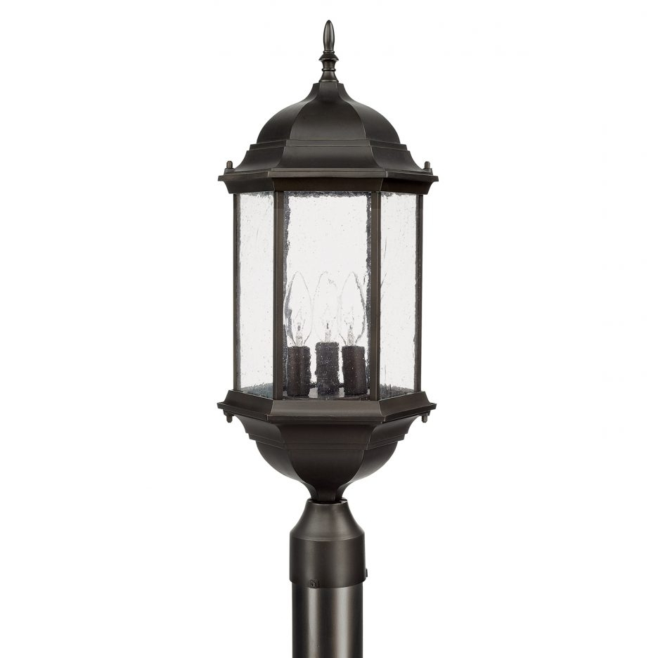 Outdoor Pillar Lanterns With Well Known Outdoor Post Fixture Lamp Post Exterior Pole Lamps Pillar Lights (View 15 of 20)