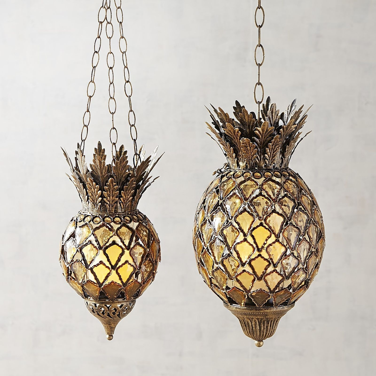 Outdoor Pineapple Lanterns Regarding Latest Pineapple Hanging Light Outdoor Fixtures Bling Gem Boho Lantern (Gallery 16 of 20)