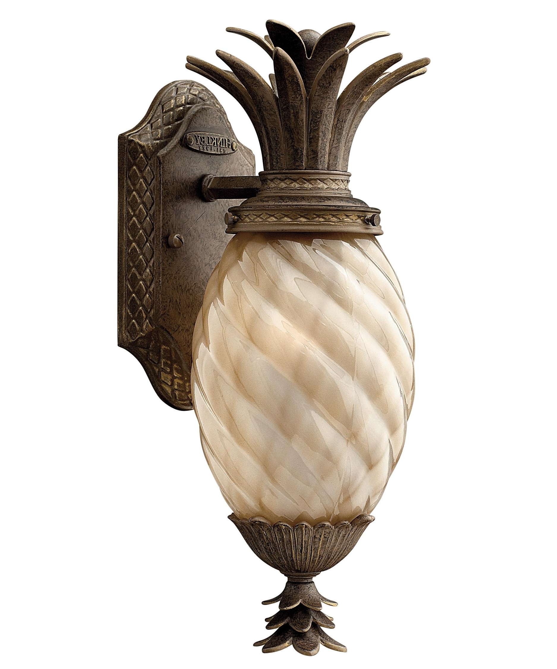Outdoor Pineapple Lanterns Throughout Trendy Outdoor Light : Inexpensive Pineapple Outdoor Lamp , Outdoor (View 15 of 20)