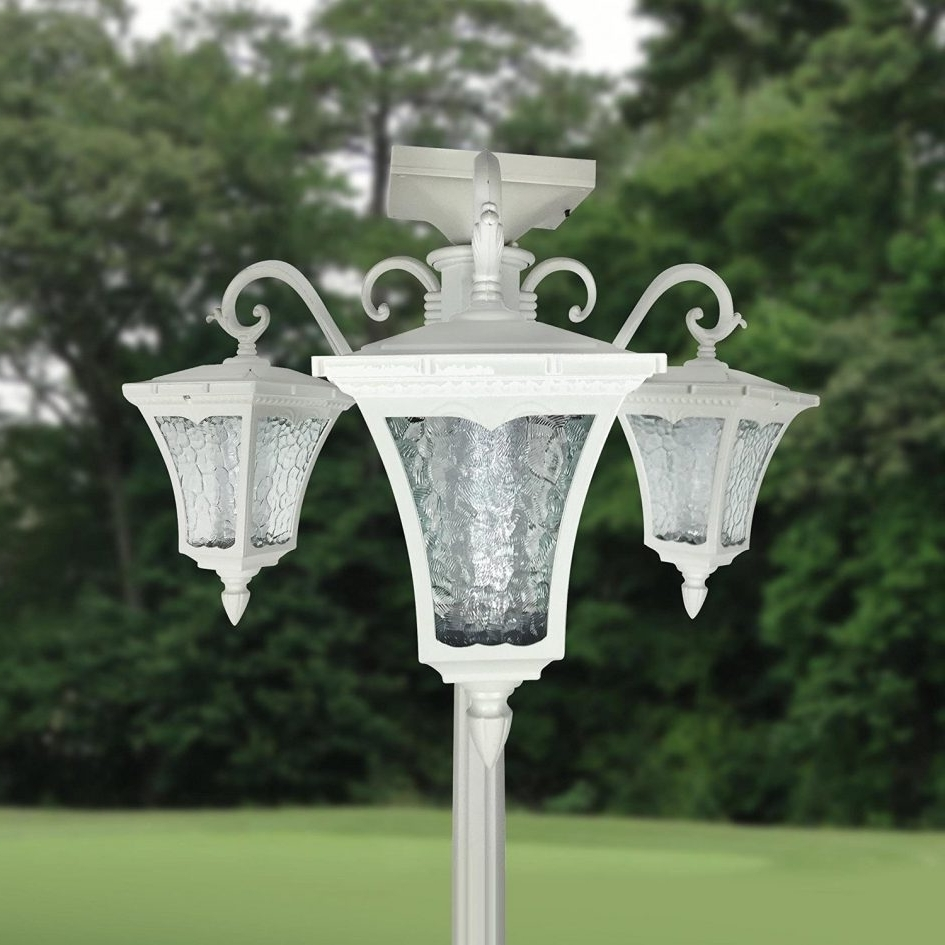 Outdoor Pole Lanterns Pertaining To Fashionable Short Lamp Post Electric Garden Lights Outdoor Pole Lanterns (Gallery 20 of 20)