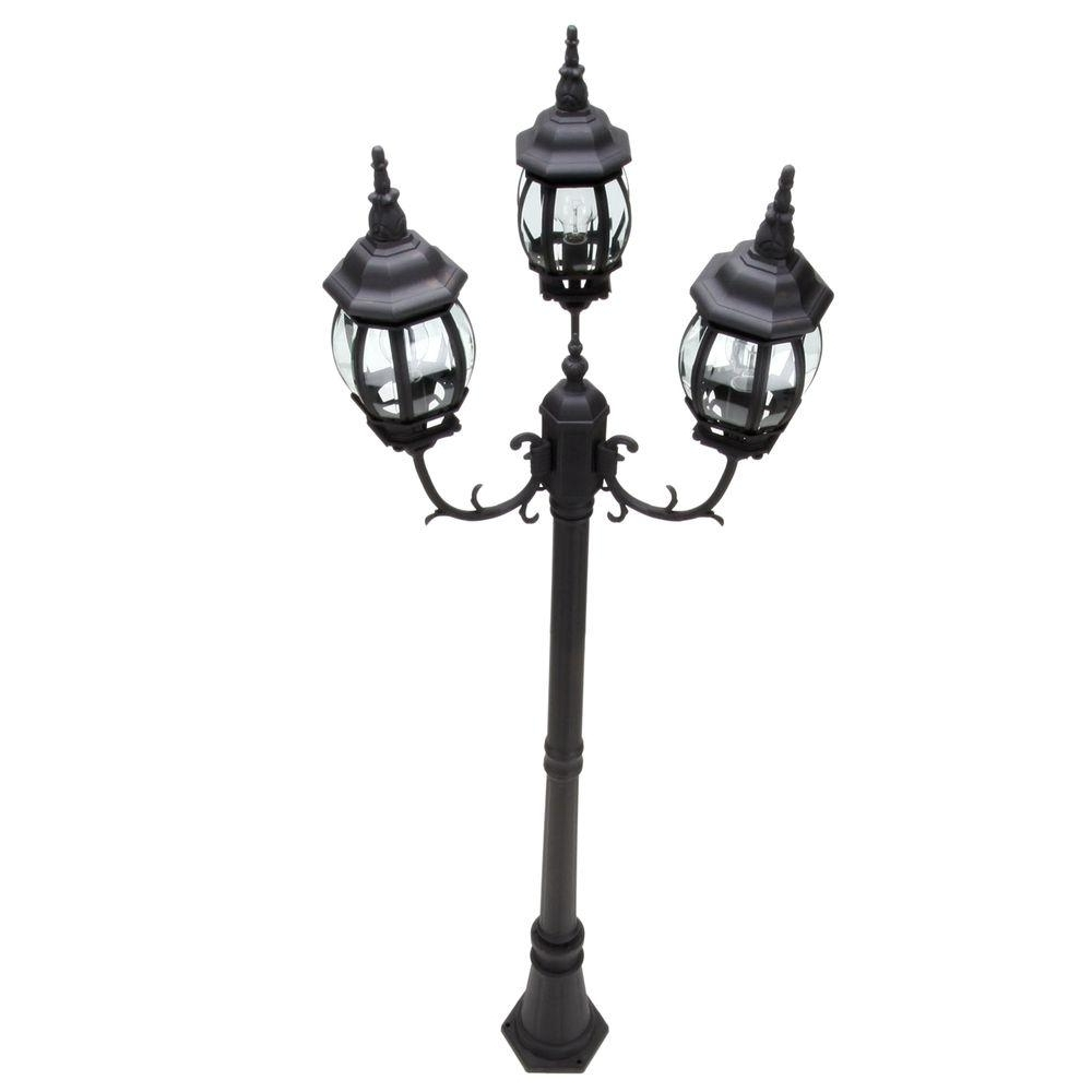 Outdoor Pole Lanterns With Regard To Widely Used Post Lighting – Outdoor Lighting – The Home Depot (View 4 of 20)
