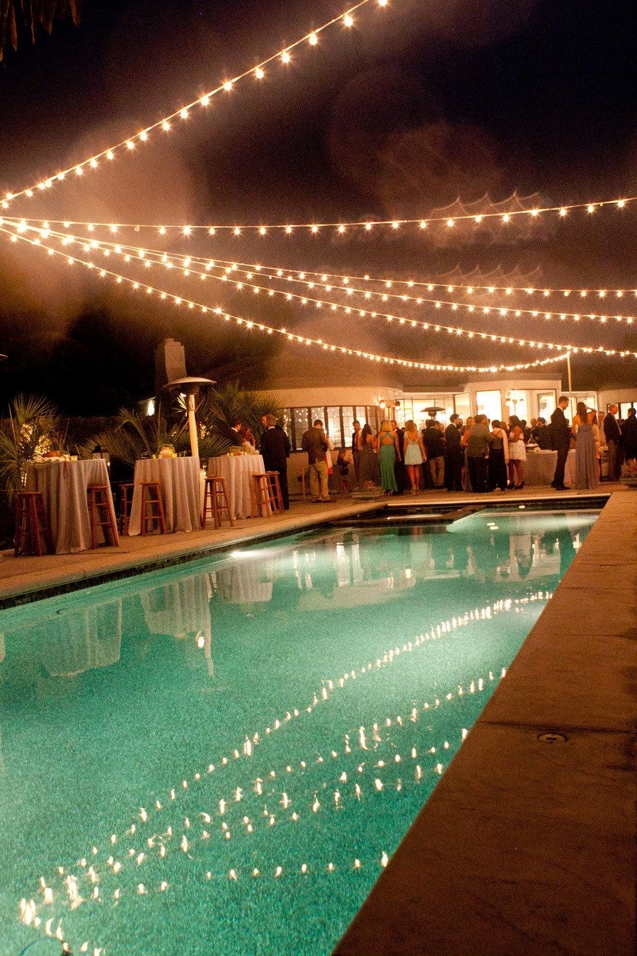 Outdoor Pool Lanterns In Preferred Montecito Wedding From Tobin Photography + Bella Vista Designs (Gallery 15 of 20)