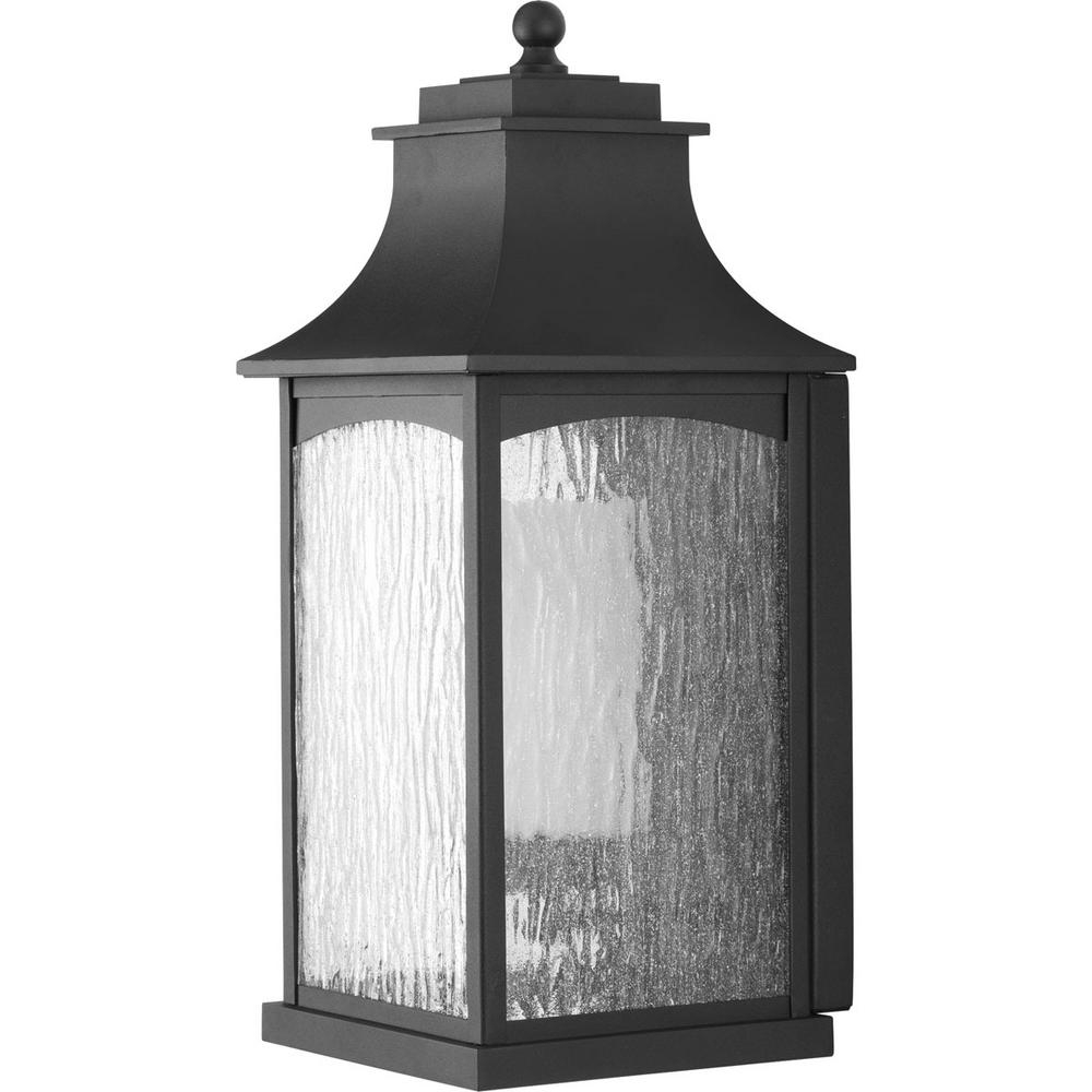 Outdoor Porch Lanterns With Most Recently Released Progress Lighting Maison Collection 1 Light Outdoor Black Wall (View 11 of 20)