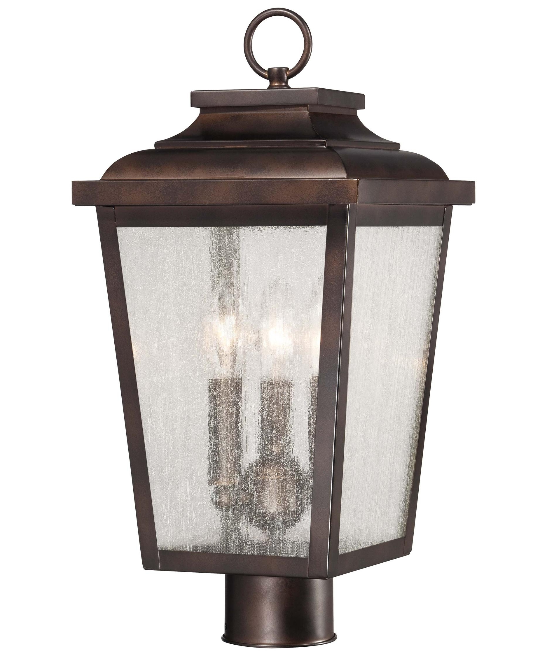 Outdoor Post Lanterns Inside 2018 Minka Lavery 72176 Irvington Manor 9 Inch Wide 3 Light Outdoor Post (View 8 of 20)