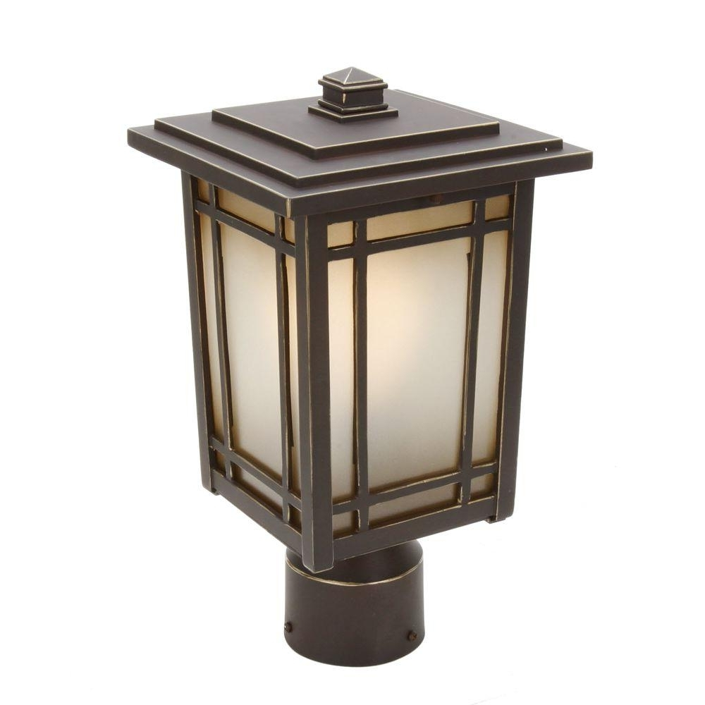 Outdoor Post Lanterns Throughout Fashionable Post Lighting – Outdoor Lighting – The Home Depot (View 12 of 20)