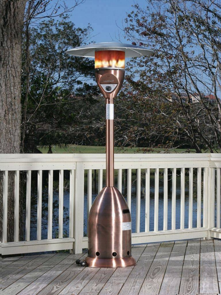Outdoor Propane Lanterns For Most Popular Outdoor Propane Patio Heater – Copper Finish Deluxe – (View 7 of 20)