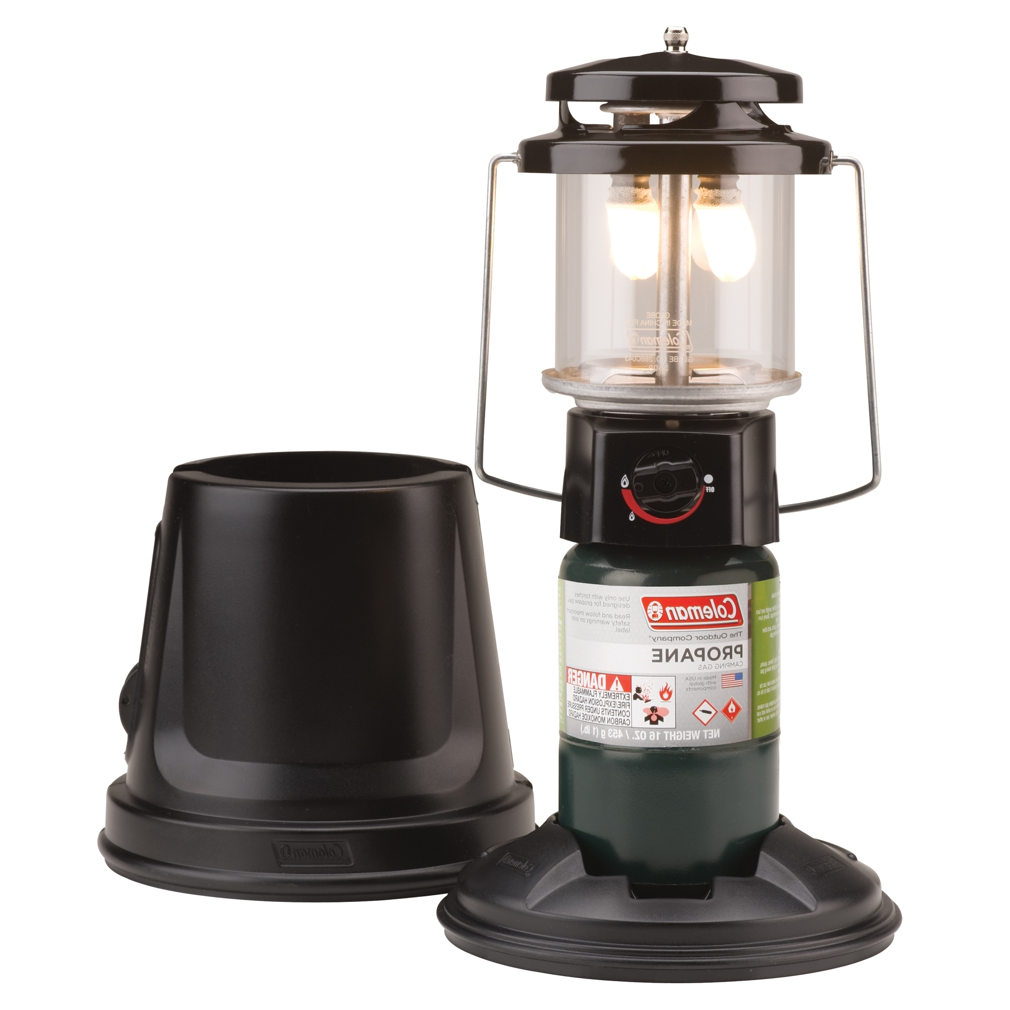 Outdoor Propane Lanterns With Most Popular Coleman Quickpack Deluxe Propane Lantern – Walmart (Gallery 2 of 20)