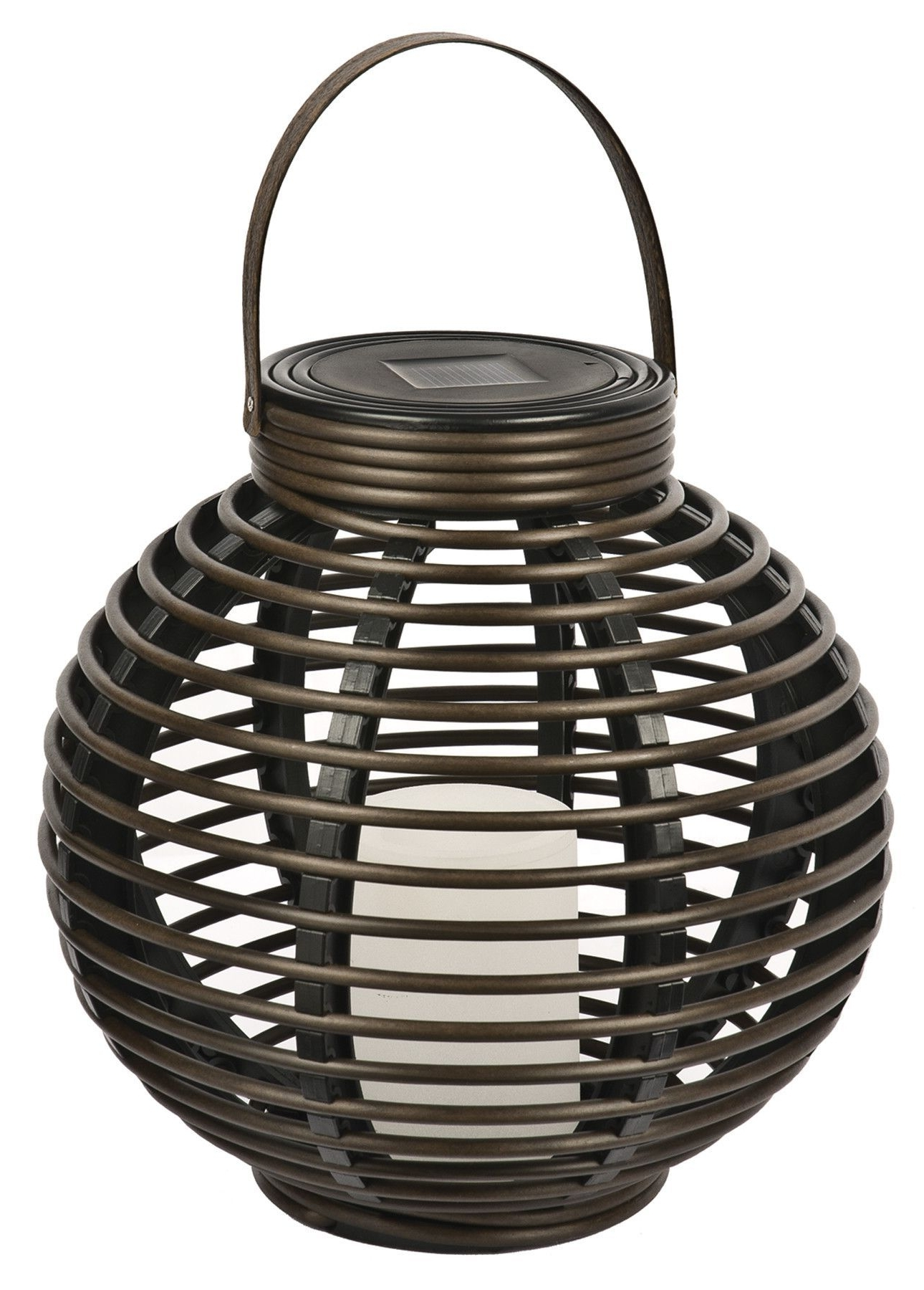 Outdoor Rattan Lanterns With Newest Northerninternational Solar Flickering Rattan Basket Light (Gallery 1 of 20)