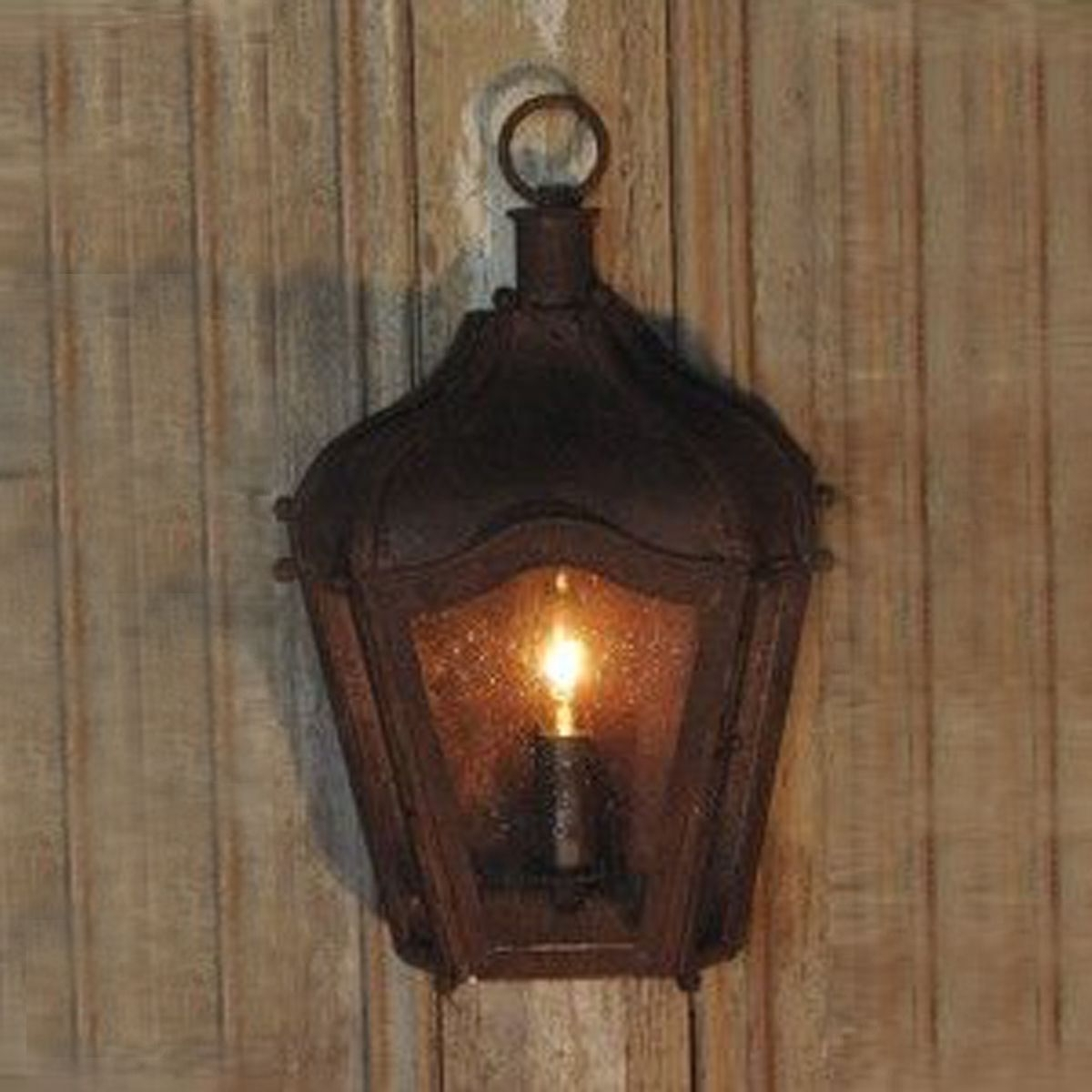 Outdoor Rustic Lanterns With Newest Rustic Brown Iron Carriage Wall Lantern Indoor/outdoor (View 12 of 20)