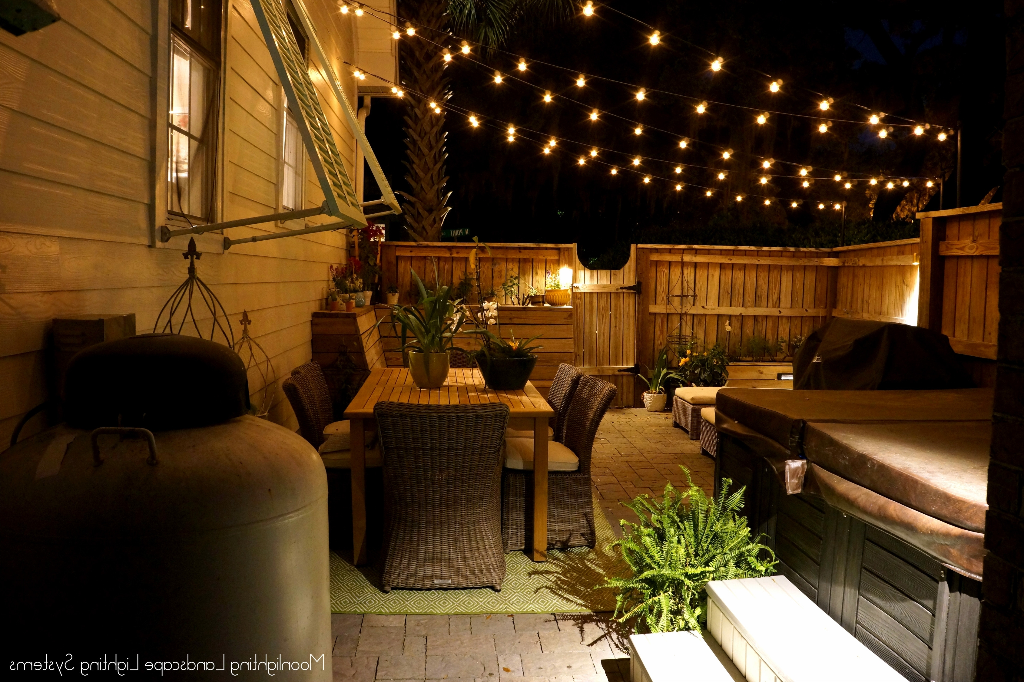 Outdoor String Lanterns For Newest Outdoor String Lighting Lighting Ideas Installing A Putting Green In (View 10 of 20)