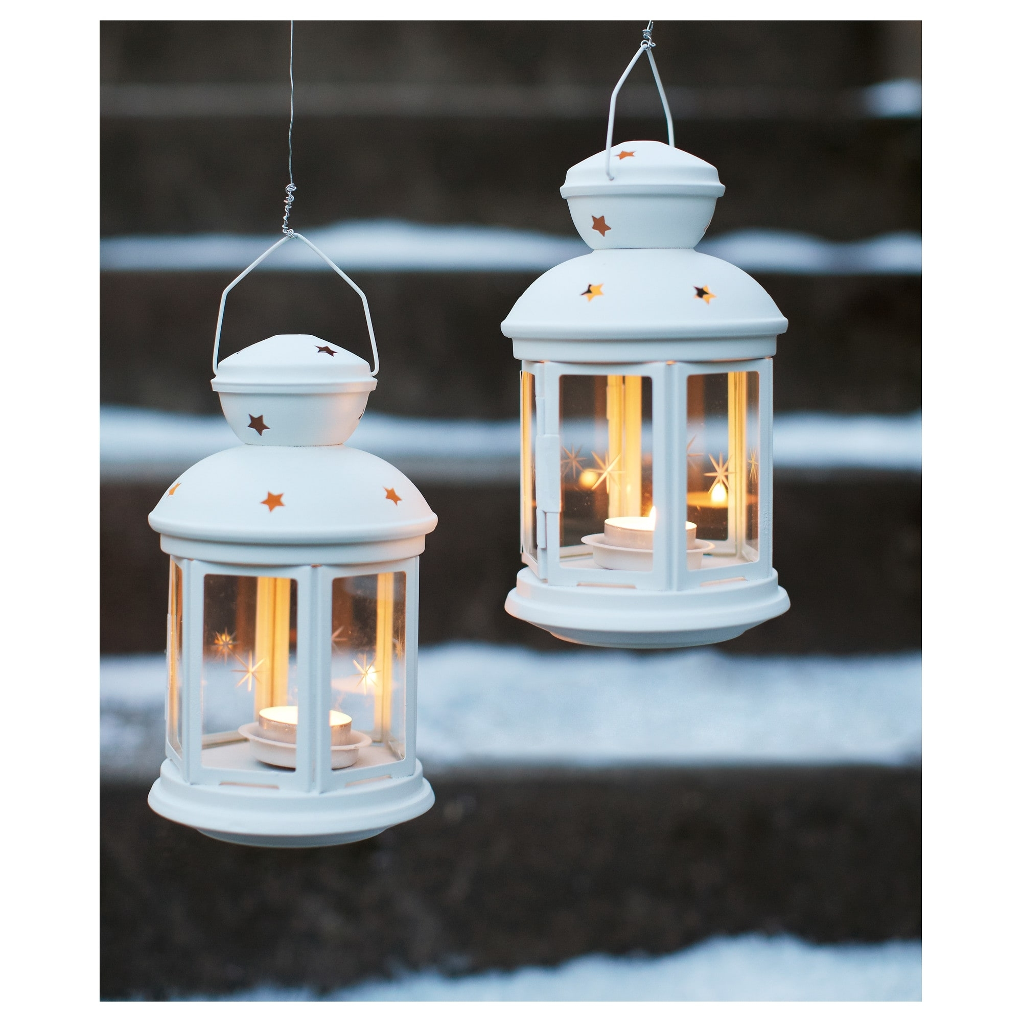 Outdoor Tea Light Lanterns Inside Well Known Rotera Lantern For Tealight In/outdoor White 21 Cm – Ikea (View 13 of 20)