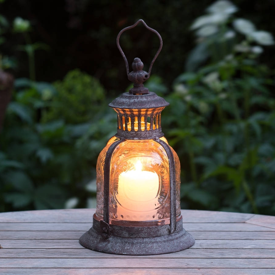 Outdoor Tea Light Lanterns Intended For Popular Large Garden Candle Lanterns Extra Outdoor Metal Door Ideas Floor (View 14 of 20)