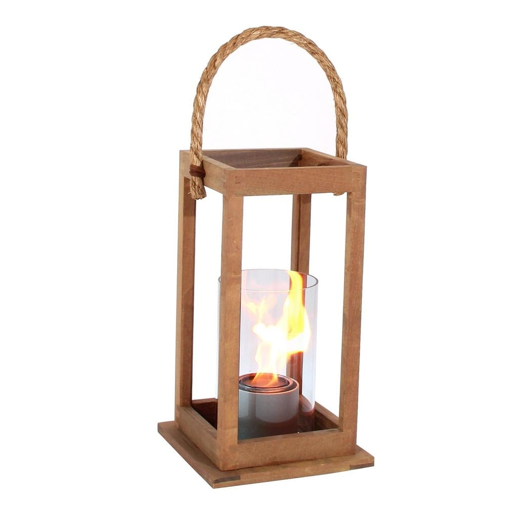 Outdoor Teak Lanterns Regarding Well Known Terra Flame Cape Cod 17 In (View 11 of 20)