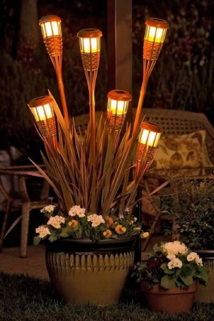 Outdoor Tiki Lanterns With Favorite Diy Rattan Tiki Torch Outdoor Patio Lights Superb Diy Outdoor Garden (View 10 of 20)