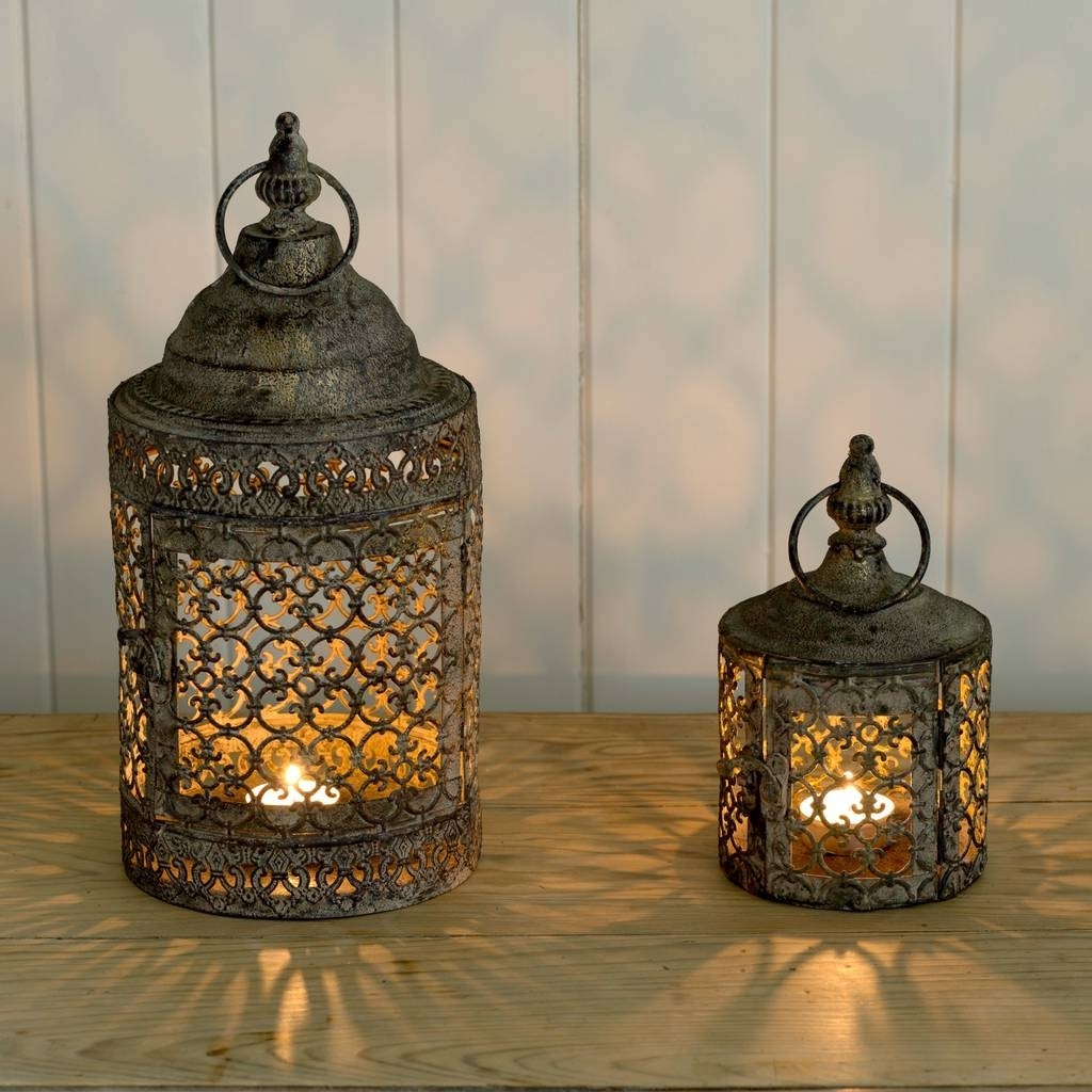 Outdoor Turkish Lanterns Regarding Current Moroccan Style Lattice Candle Lanternthe Flower Studio (Gallery 5 of 20)