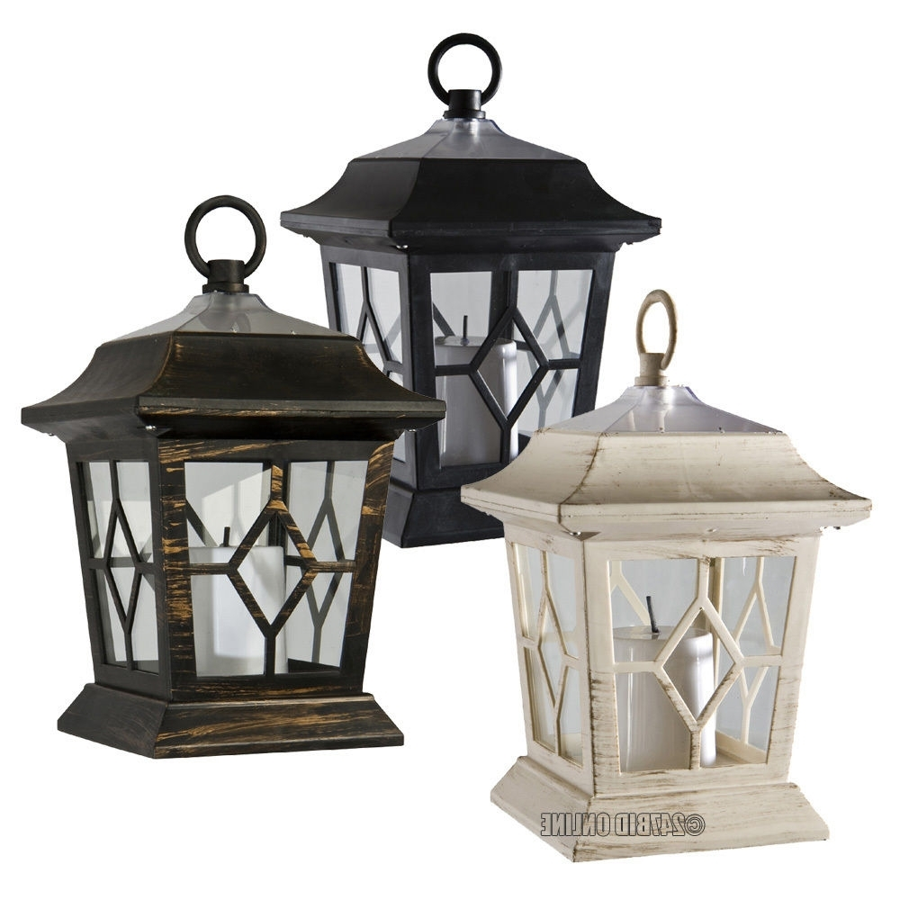 Outdoor Victorian Solar Flickering Led Candle Lanterns Coach Lights Regarding Most Recent Outdoor Big Lanterns (Gallery 5 of 20)