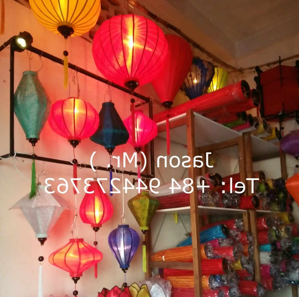 Outdoor Vietnamese Lanterns Within Preferred Vietnamese Silk Lanterns, Vietnamese Silk Lanterns Suppliers And (Gallery 6 of 20)