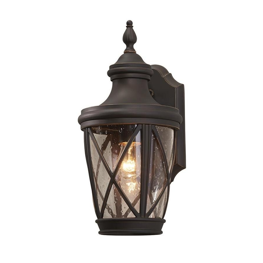Outdoor Wall Lanterns Inside 2018 Shop Outdoor Wall Lights At Lowes (View 12 of 20)
