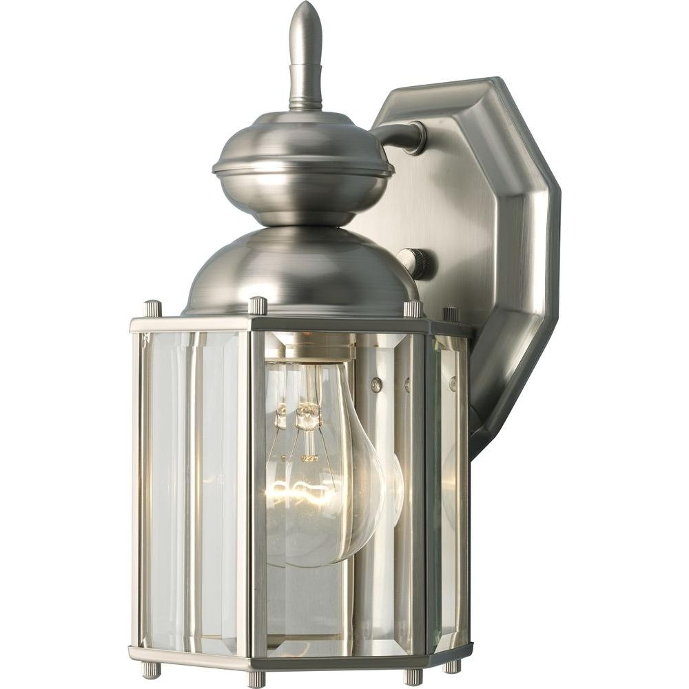 Outdoor Weather Resistant Lanterns Pertaining To Favorite Weather Resistant – Brushed Nickel / Chrome & Pewter – Outdoor Wall (View 3 of 20)