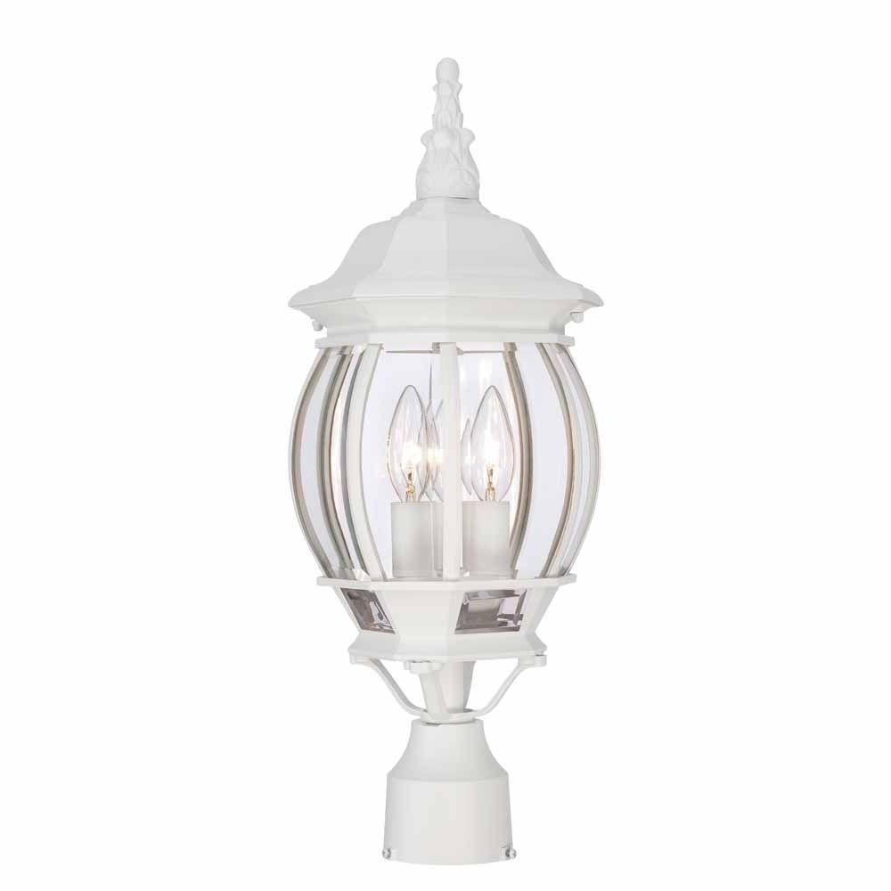 Outdoor Weather Resistant Lanterns Regarding Well Known Weather Resistant – White – Post Lighting – Outdoor Lighting – The (Gallery 17 of 20)