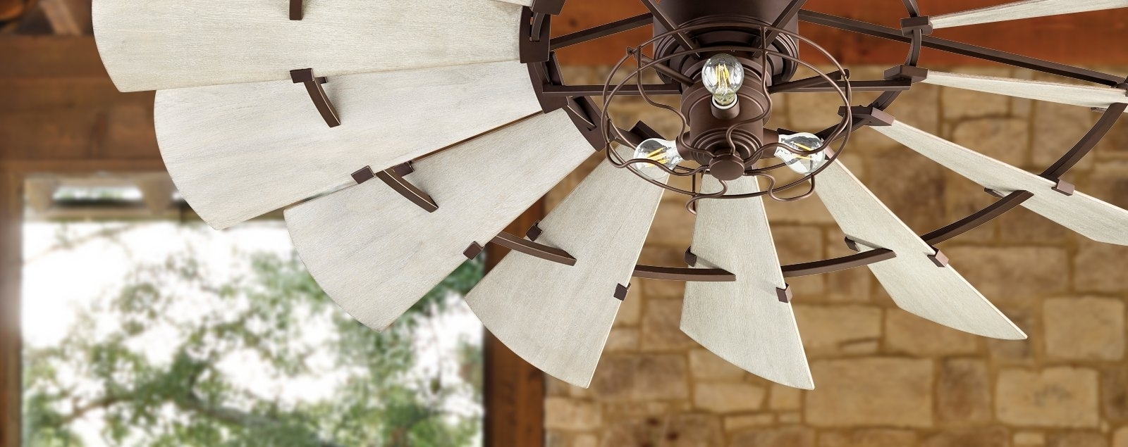 Outdoor Windmill Ceiling Fans With Light Regarding Latest Windmill Ceiling Fans (View 15 of 20)