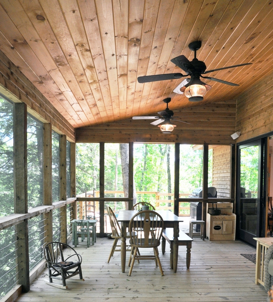 Outdoor Wood Ceiling Ideas Contemporary Ceiling Fans Porch Within Trendy Outdoor Ceiling Fans For Porch (View 10 of 20)