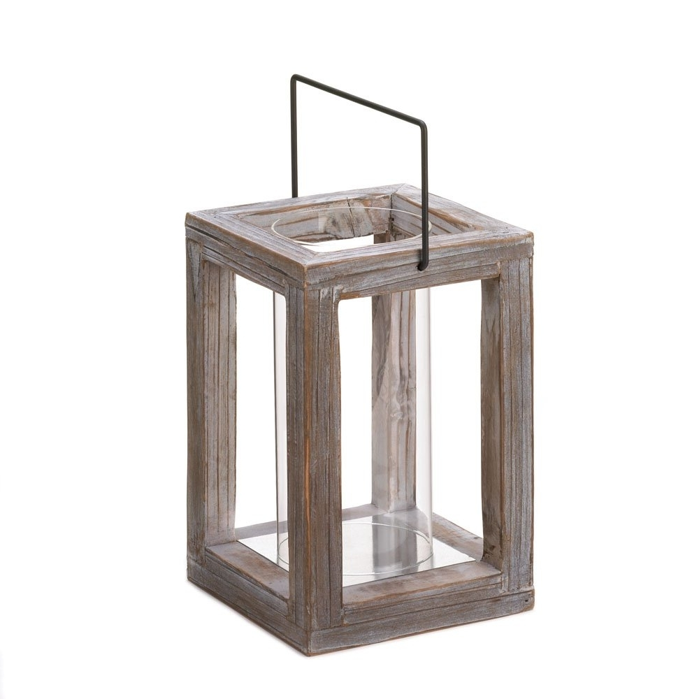 Outdoor Wood Lanterns Throughout Widely Used Lantern Candle Holders, Outdoor Wooden Decorative Candle Lanterns (Gallery 1 of 20)