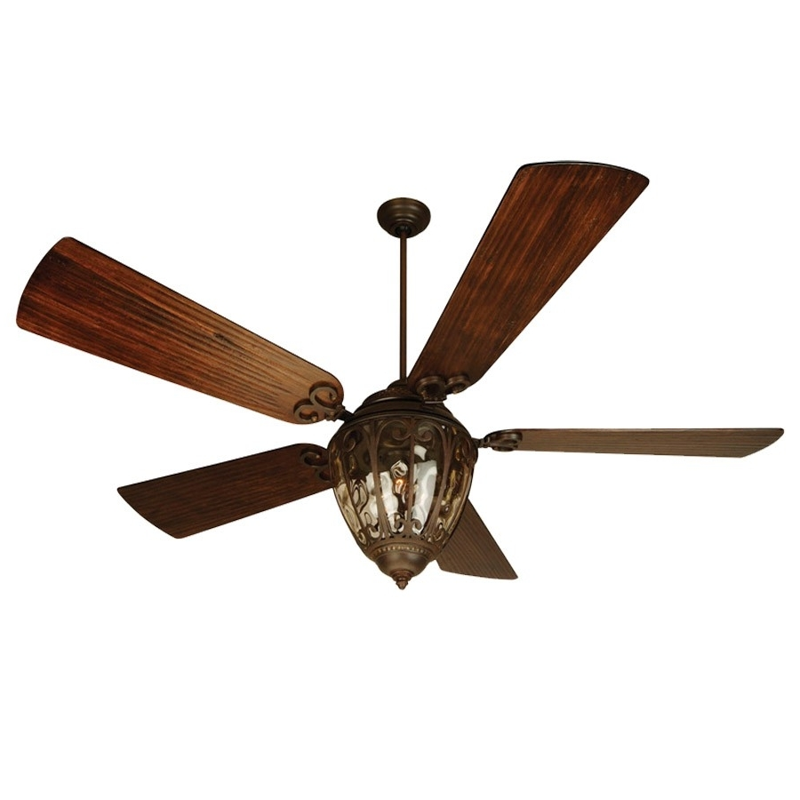 "Oversized Outdoor Ceiling Fans With Regard To Best And Newest Olivier 70"" Ceiling Fan Ov70ag – B570p Wal Blades Craftmade (View 2 of 20)"