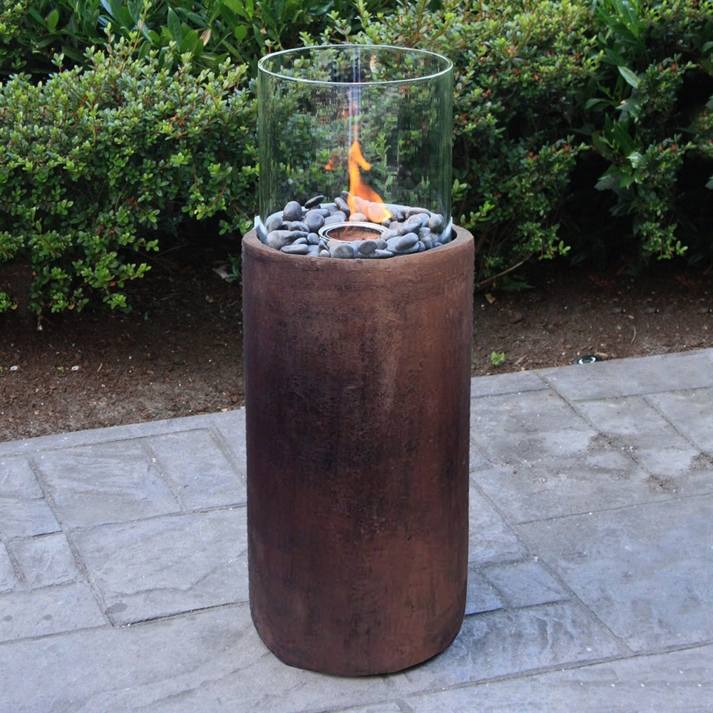 Paramount Gfb 212 Bz 27 In Concrete Fire Column Garden Gel Burner Intended For Newest Outdoor Gel Lanterns (View 16 of 20)