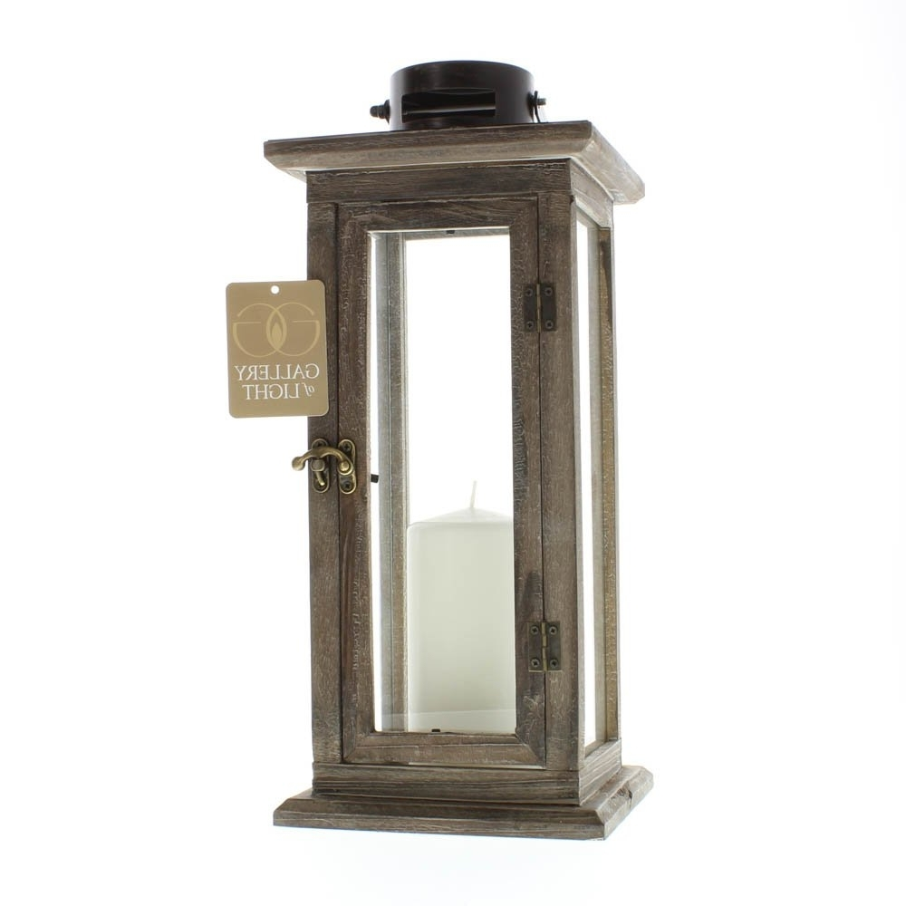 Patio Candle Lanterns, Rustic Wooden Tall Candle Lantern Holder For For Well Known Tall Outdoor Lanterns (Gallery 12 of 20)