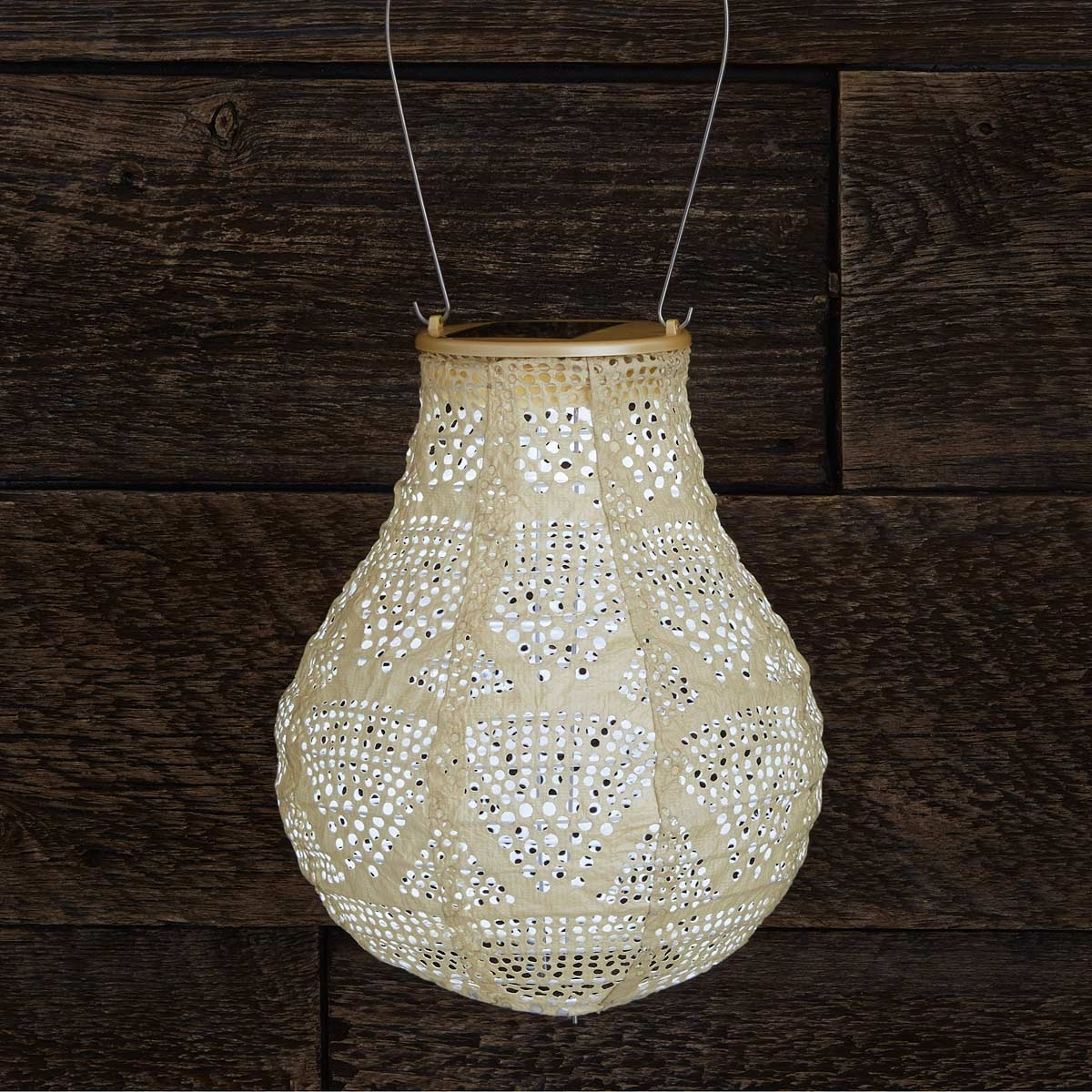 Pearl Teardrop Solar Lantern (View 15 of 20)
