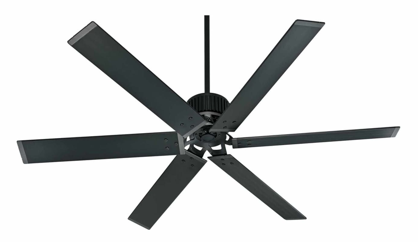 "Popular Black Outdoor Ceiling Fans Throughout Hunter Industrial 72 72"" Energy Star Rated Indoor / Outdoor Ceiling (View 12 of 20)"