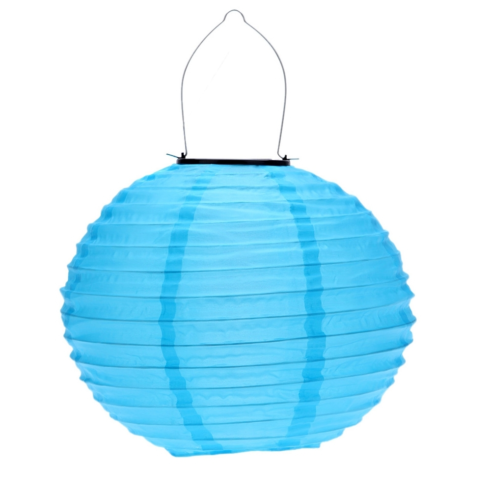 Popular Blue Outdoor Lanterns Within 10 Inch Blue Waterproof Solar Lantern Outdoor Garden Led Chinese (Gallery 12 of 20)