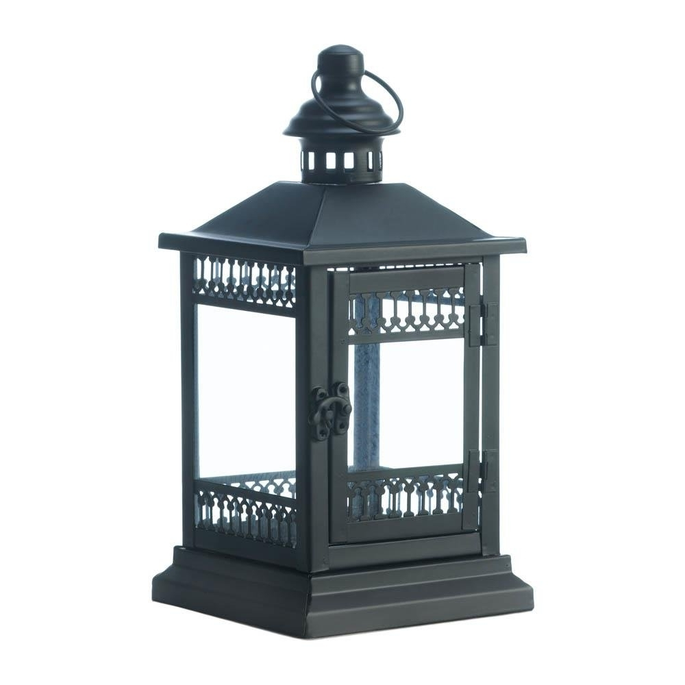 Popular Candle Lantern Decor, Black Outdoor Iron Victorian Grace Candle In Outdoor Iron Lanterns (Gallery 3 of 20)