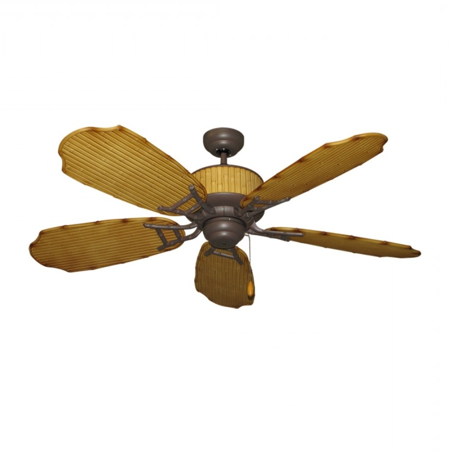 Popular Gulf Coast Fans, Cabana Breeze, Outdoor Ceiling Fan With Regard To Tropical Outdoor Ceiling Fans With Lights (View 11 of 20)