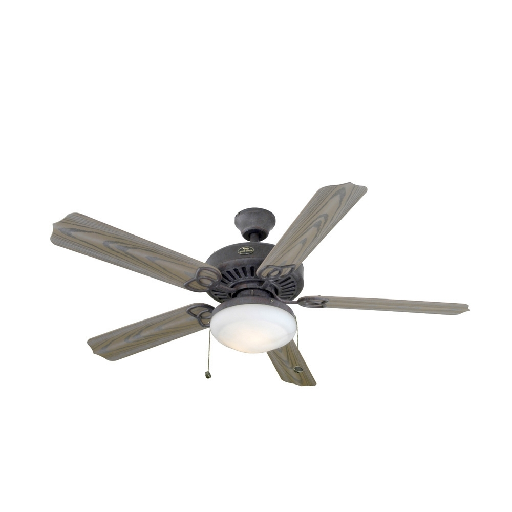 "Popular Harbor Breeze Outdoor Ceiling Fans With Lights In Shop Harbor Breeze® 52"" Tebron Garden Outdoor Ceiling Fan At Lowes (View 16 of 20)"