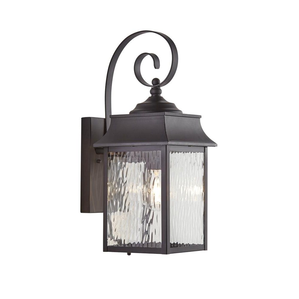 Popular Home Decorators Collection Scroll 1 Light Black Outdoor Small Wall In Italian Outdoor Lanterns (View 15 of 20)