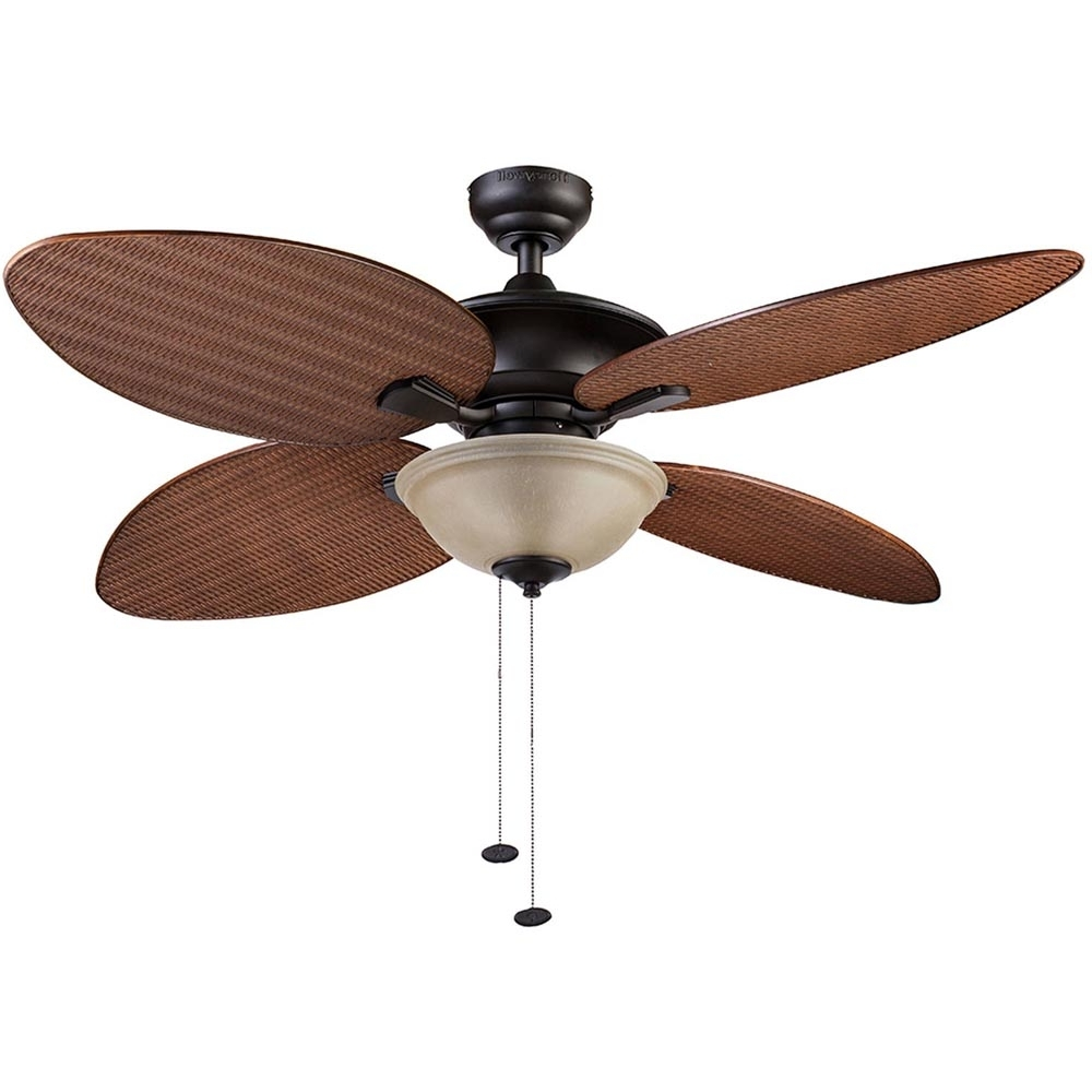 Popular Honeywell Sunset Key Outdoor & Indoor Ceiling Fan, Bronze, 52 Inch With Regard To Hugger Outdoor Ceiling Fans With Lights (View 16 of 20)
