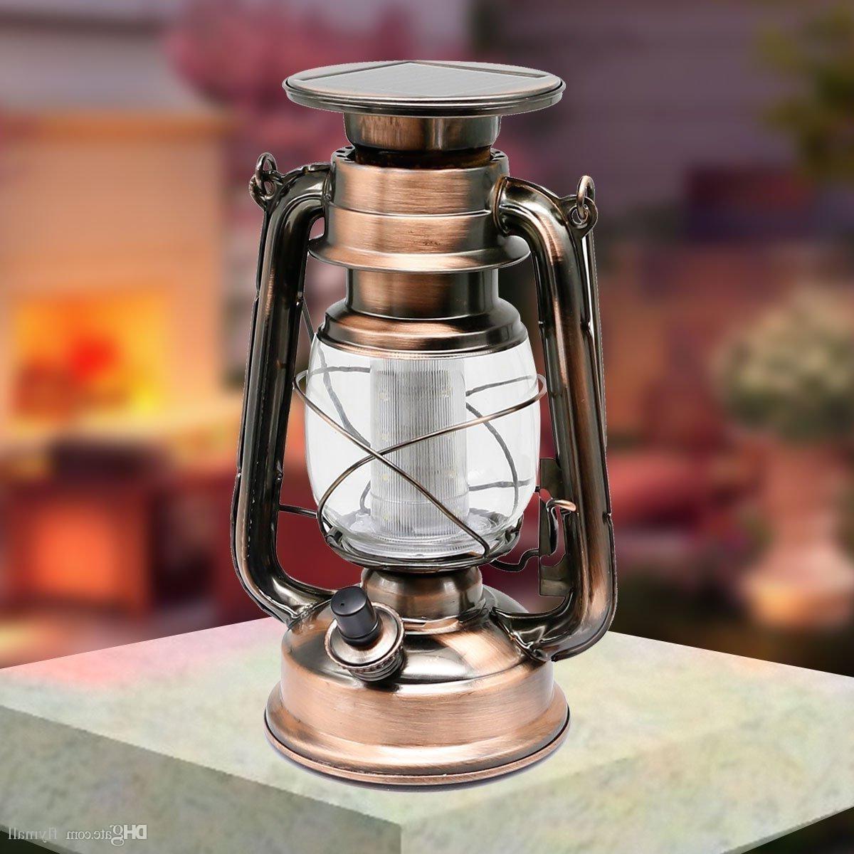 Popular Indoor Outdoor Lanterns In 12 Led Retro Solar Lamp Portable Led Lantern Solar Outdoor Led (View 14 of 20)