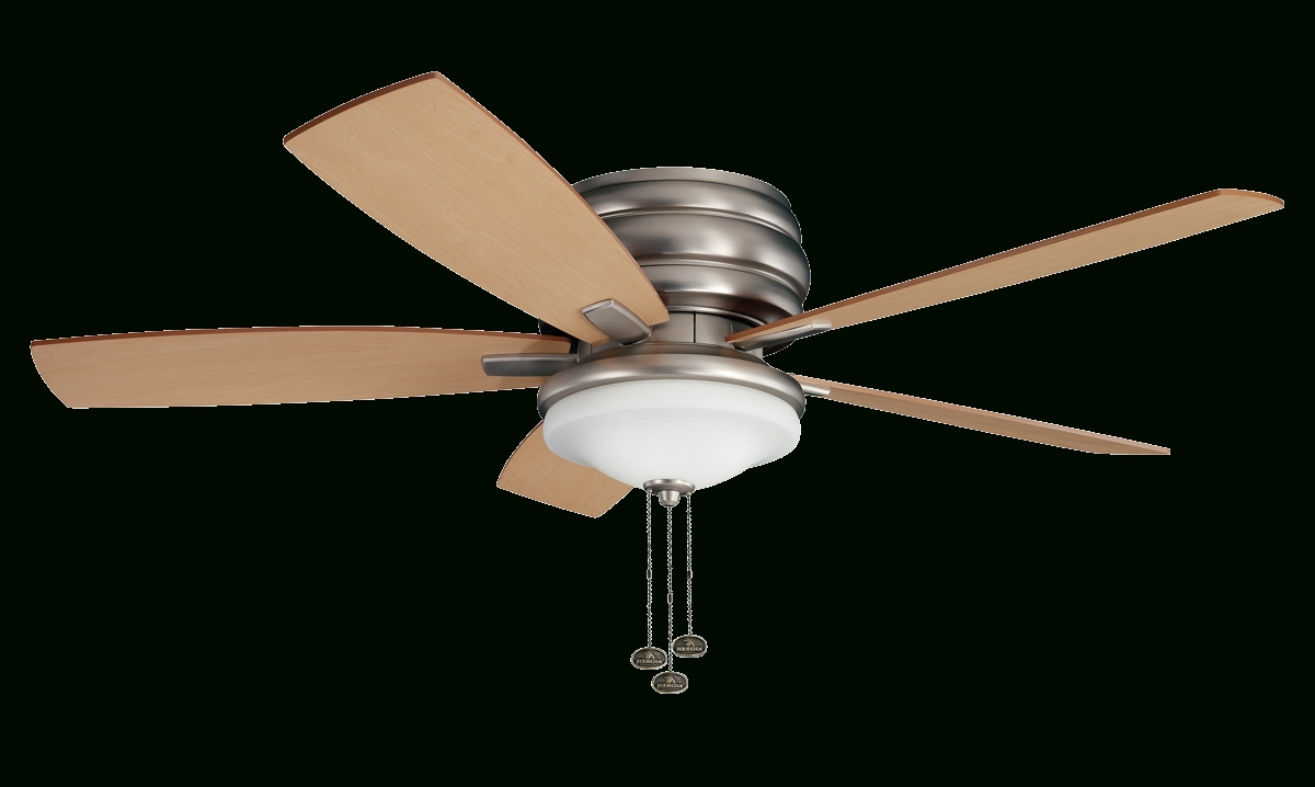 "Popular Kichler Outdoor Ceiling Fans With Lights Regarding 52"" Windham Fan With Brushed Nickel Finish (View 17 of 20)"