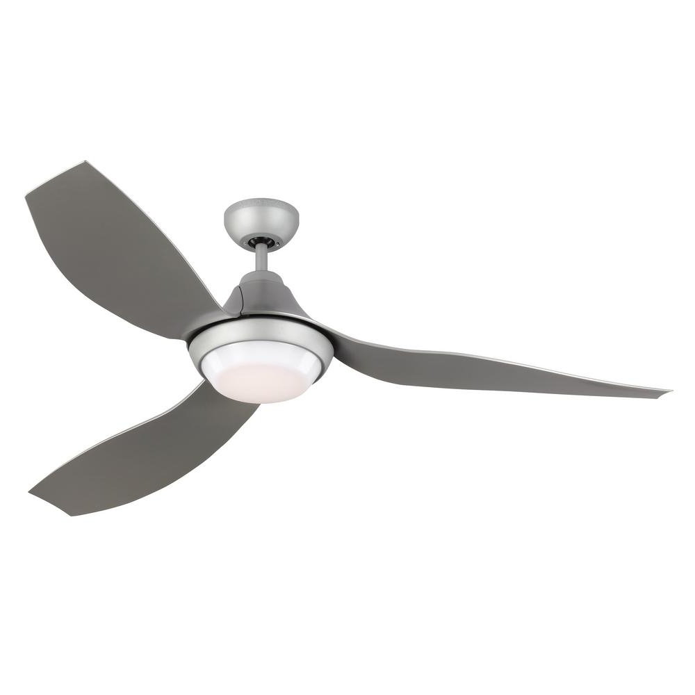 Popular Monte Carlo Avvo 56 In. Led Indoor/outdoor Grey Ceiling Fan With Regarding Grey Outdoor Ceiling Fans (Gallery 1 of 20)