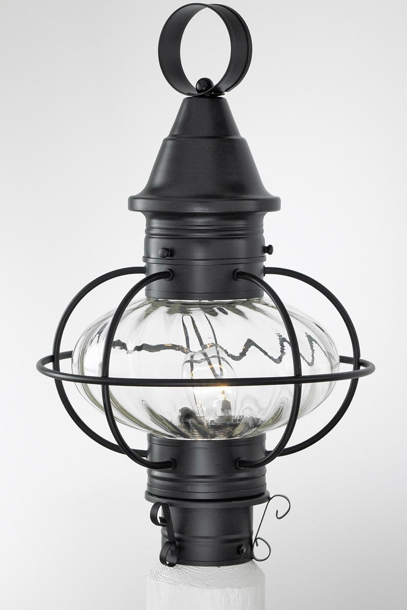 Popular Norwell Lighting 1611 Bl Pr Vidalia Onion 1 Light 19 Inch Black Regarding Outdoor Lighting Onion Lanterns (View 18 of 20)