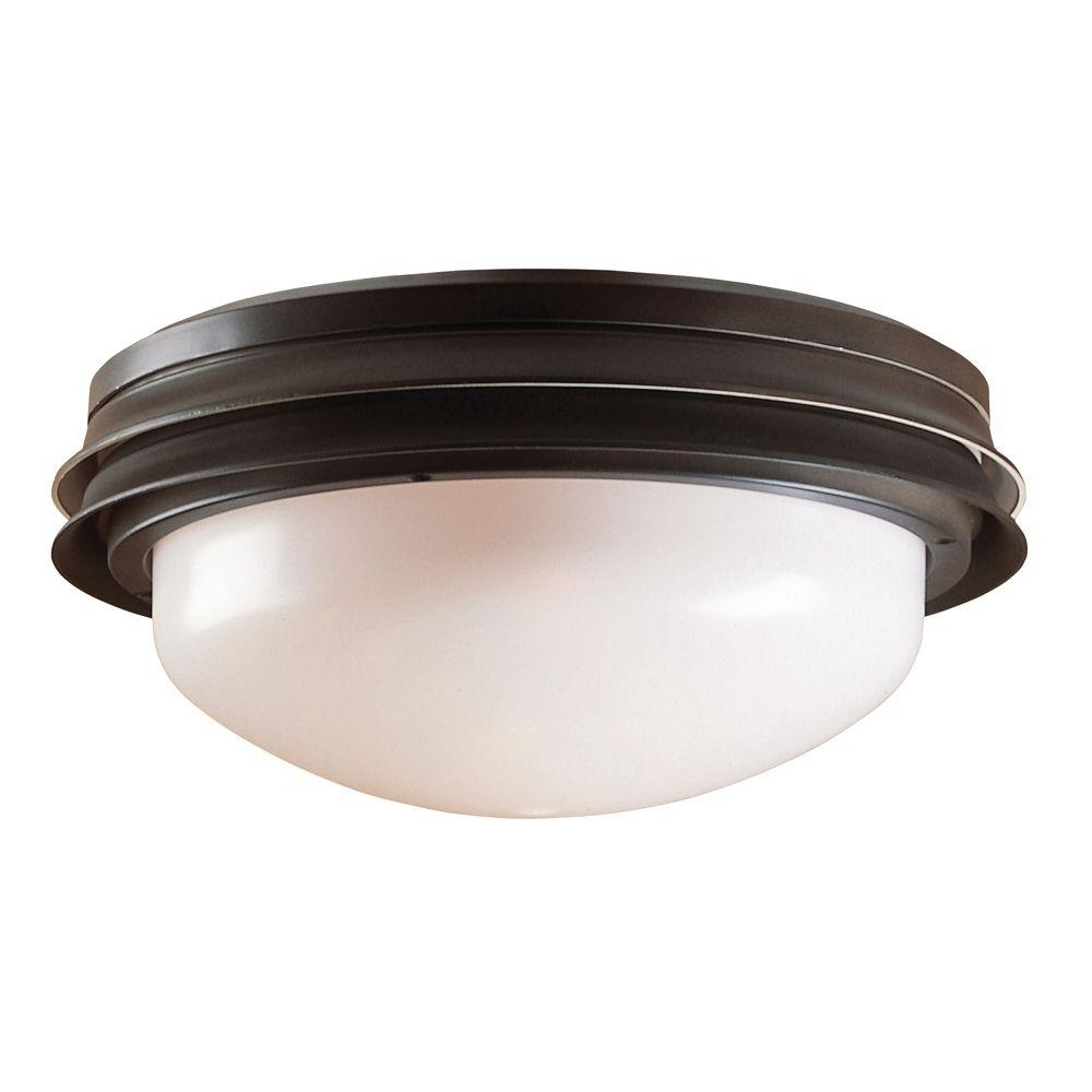 Popular Outdoor Ceiling Fan Light Fixtures With Regard To Hunter Marine Ii Outdoor Ceiling Fan Light Kit 28547 – The Home Depot (View 18 of 20)